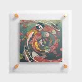 Ukiyo-e tale: The creative circle Floating Acrylic Print