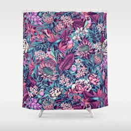 Stand Out! (electric blue) Shower Curtain