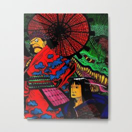 One Piece Samurai Metal Print