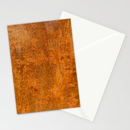 Abstract Rust Wall Stationery Cards