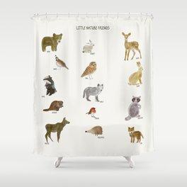 little nature friends Shower Curtain