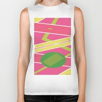 back to the future Biker Tanks featuring Back 2 The Future by TheArtGoon