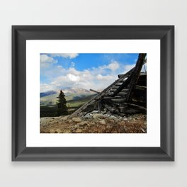 Man and Mountain Framed Art Print