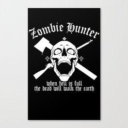 Zombie Hunter Canvas Print