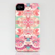 Pink Floral Teal Fashion Kaleidoscope Pattern Slim Case iPhone (4, 4s)