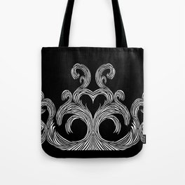 Swirls & Heart Tote Bag