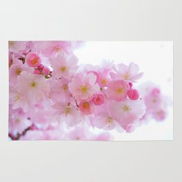 Pink Japanese Cherry Tree Blossom Rug