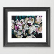 Blurred Vision Series - Blush Peonies No. 1 Framed Art Print