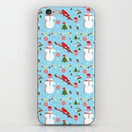 Lost Snowman Pattern iPhone Skin