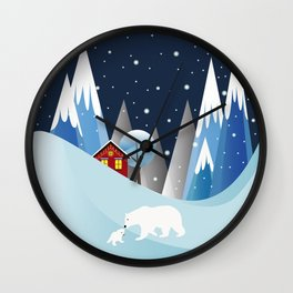 Snowing Bubble Wall Clock