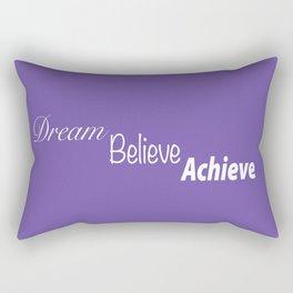 Dream Believe Achieve Ultra Violet Rectangular Pillow