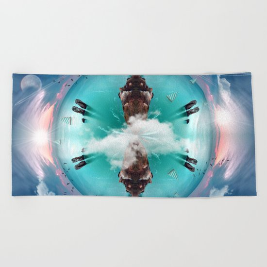 It's a small world Beach Towel