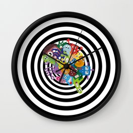 monsters out of space Wall Clock