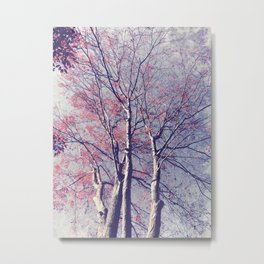 The Trees - The Enchanted Forest in Spring Metal Print