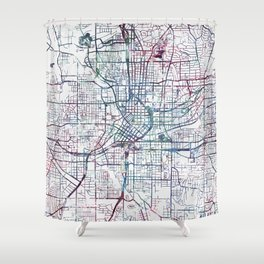 Atlanta map Shower Curtain