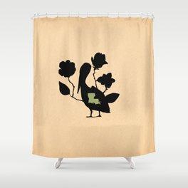 Louisiana - State Papercut Print Shower Curtain