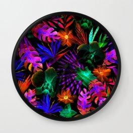 unique florals ii Wall Clock