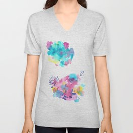 180802 Beautiful Rejection  11   Colorful Abstract Unisex V-Neck