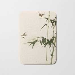 Oriental style bamboo branches 001 Bath Mat