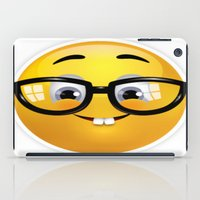 emoji iPad Cases featuring Smiling Geek Emoji!  by Happy Positivity