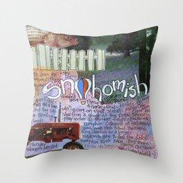 Snohomish, Washington Throw Pillow