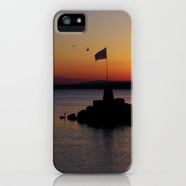 A beautiful sunset view of Lough Neagh iPhone Case