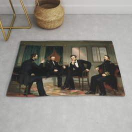 The Peacemakers -- Civil War Union Leaders Rug