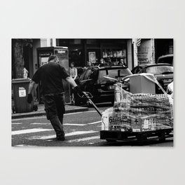 Working hard in St. Andrews Canvas Print