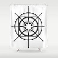 grace Shower Curtains featuring Grace by Ghost