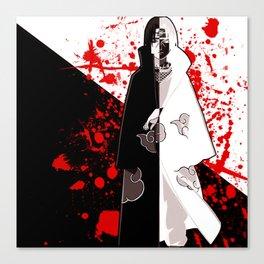 uchiha black white Canvas Print
