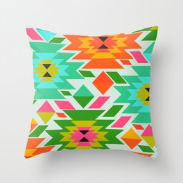 Ethnic with a tropical summer vibe Throw Pillow