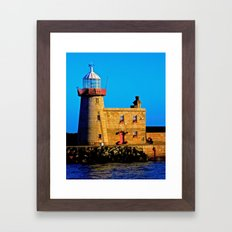 Howth Lighthouse Morning Framed Art Print
