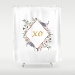 Lettering and Watercolor Flowers #3 Shower Curtain
