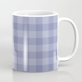 Blue gray simple plaid patterns . Coffee Mug