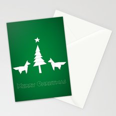 Christmas foxes Stationery Cards