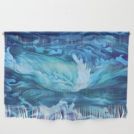 Blue Water Waves Wall Hanging