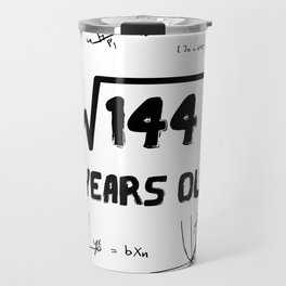 Square Root Of 144 12th Birthday Travel Mug