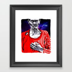 African Old Black Man holding Chicks Framed Art Print