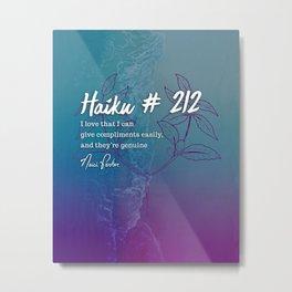 Neici Parker Haiku - 212 Metal Print