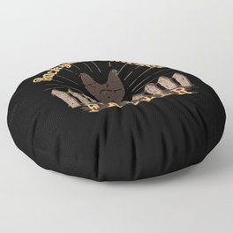 Backyard Chicken Farmer Floor Pillow