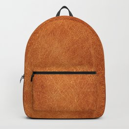Farmhouse Style Original Camel Leather Oriental Design. Backpack