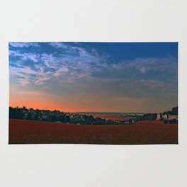 Small rural town skyline at sunrise II | landscape photography Rug