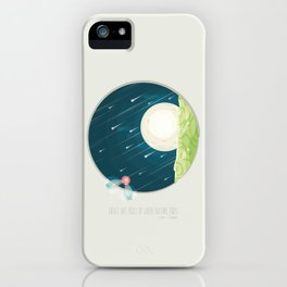 Where nature ends iPhone Case