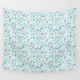 Winterberry Blues Wall Tapestry