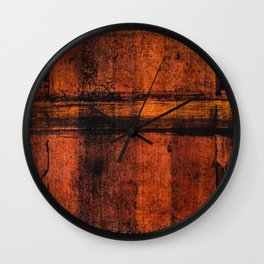 Pathway (Rust Abstract) Wall Clock