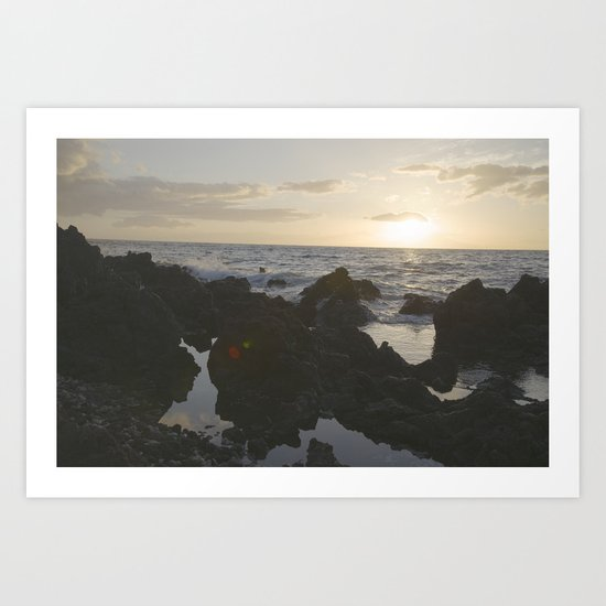 Rocks in the Sea Art Print