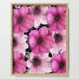 Elegant Floral Pageantry in Pretty Pink Pattern Serving Tray