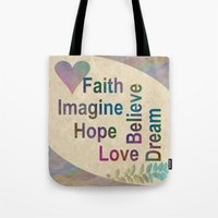 inspirational Tote Bags featuring Inspirational by LLL Creations