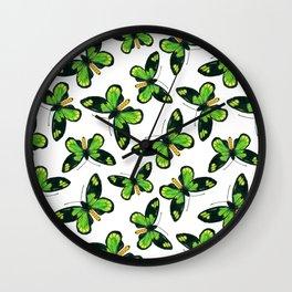 Queen Victoria' s birdwing butterfly pattern Wall Clock
