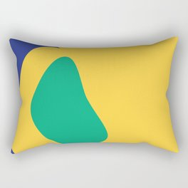 yellow green blue Rectangular Pillow